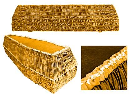 Гроб шестигранный ЗОЛОТО арт. 6-14