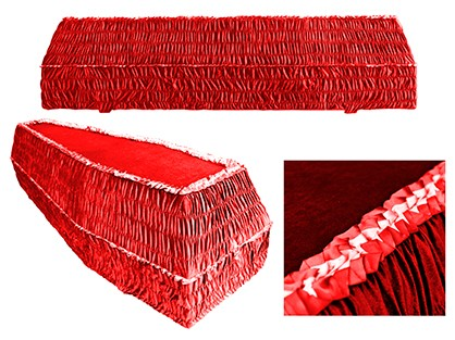 Гроб шестигранный КРАСНЫЙ арт. 6-15