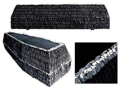 Гроб шестигранный ЧЁРНЫЙ арт. 6-16