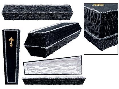 Гроб обивка бархат. Цвет черный