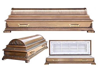 Гроб 6. Полукруглый, цвет орех