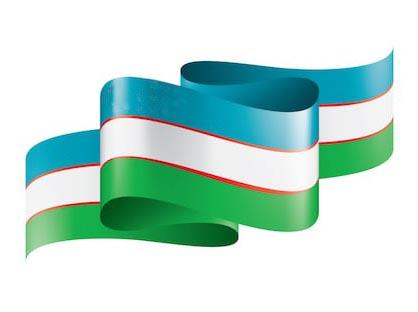 Лента триколлор узбекский флаг