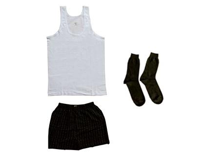 Комплект мужской  Х/Б  майка, трусы, носки