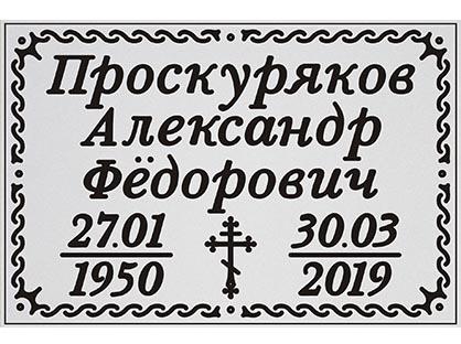 Серебренная одинарная шрифт №2 (этого цвета временно нет в продаже)