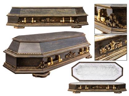 Гроб 14. Восьмигранный чёрный