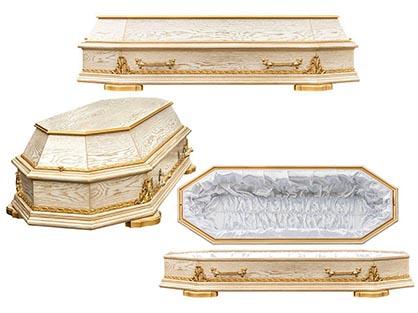 Гроб 3. Восьмигранный белый