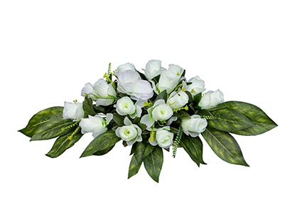 Венок на гроб белые розы