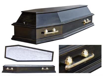 Гроб 11. Чёрный с позолотом.