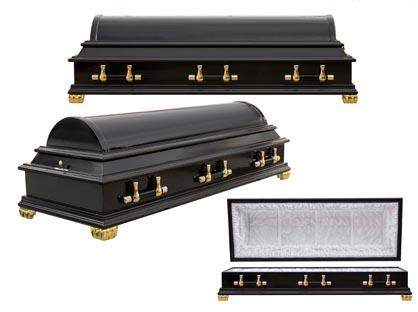 Гроб 13. Полукруглый чёрный
